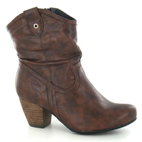 Shoes  - Brown Western Ankle Boot