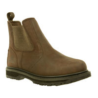 Shoes  - Stone Brown Leather Work Boot