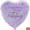 "18"" Foil Congratulations on your Engagement Balloon"