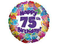 Other occasions  - 75th Birthday Helium Balloon