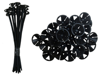 Party Decoration  - Black Balloon Sticks (25 Pack)