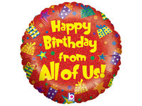 Balloons  - Happy Birthday from Us All Helium Balloon