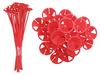 Red Balloon Sticks (25 Pack)