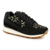Shoes Womens Black & Gold Eclat W Embroidery Sneakers