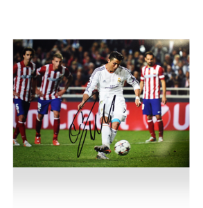 Sports Memorabilia  - Cristiano Ronaldo Signed Real Madrid Photo: 2014 UEFA Champions League Final Goal vs Atletico Madrid