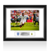Daniel Sturridge Official England Signed and Framed Photo: Goal vs Wales