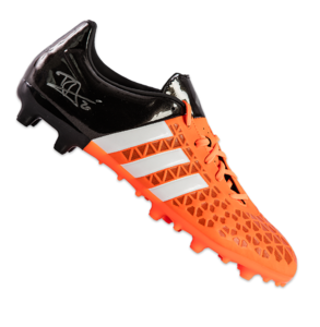 Sports Memorabilia  - Dele Alli Signed Orange and Black adidas Ace 15.3 FG Boot