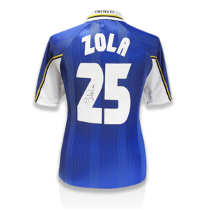 Sports Memorabilia  - Gianfranco Zola Signed Chelsea Shirt