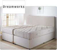 Beds  - Dreamworks Super King Size Duo Comfort Zip and Link Bed - Platform Top (Non Store)