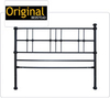 Original Bedstead Company Super King Size Carnew Headboard Glossy Silver