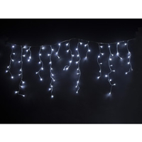 Decorations  - 400 Remote Control LED Christmas Lights – Cool White Icicles