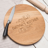 Novelty Gifts Personalised Barrel Top Oak Chopping Board - Made In