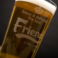Personalised Pint Glass - Definitely The Best Friend