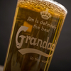 Personalised Pint Glass - Definitely The Best Grandad