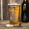 Personalised Pint Glass - Eat,  Sleep,  Drinks