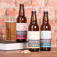 Personalised Gifts  - Personalised Set Of Three Beers - World