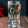 Personalised Shot Glass with Miniature - Oh Deer