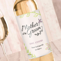 Personalised Gifts  - Personalised Wine - Wedding Floral Mother Of The Groom