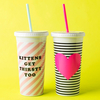 Sip Sip Double-Walled Tumbler with Straw