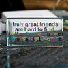 Decorations Spaceform Landscape Glass Token - Truly Great Friends
