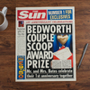 The Sun Personalised Spoof Newspaper Article - 1st Year Anniversary
