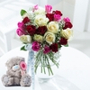 Flowers Me to You Mixed Roses with Bear