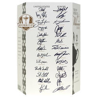 - 2012 Ryder Cup - Official Gala Dinner Menu signed by both Captains and Teams