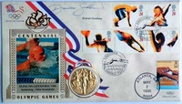 - Duncan Goodhew - 1988 Olympics signed FDC with Medal