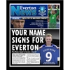 Everton - Personalised Framed Newspaper