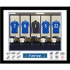 Everton - Personalised Goal Keeper Dressing Room Framed Print