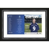 Everton - Personalised Match Day Programme - Framed