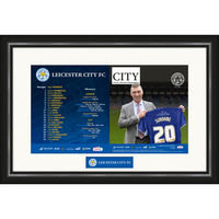 - Leicester City - Personalised Match Day Programme - Framed