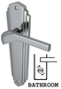 House Accessories Heritage WAL6530 Waldorf Chrome Bathroom Lever Door Furniture