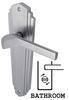 House Accessories Heritage WAL6530 Waldorf Satin Chrome Bathroom Lever Door Furniture