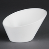 Olympia Whiteware Oval Sloping Bowls 202x 185mm Pack of 3
