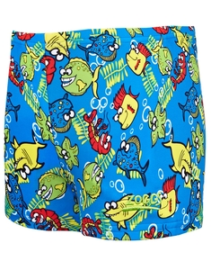 Zoggs Tots Boys Fishy Business Hip racer Short