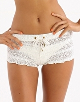 Crochet Short - White