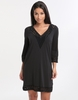 Gottex Prism Laser Cut Jersey Blouse Dress - Black