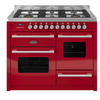 Cookers & Ovens 1100mm Twin Dual Fuel Range Cooker Gas Hob Red
