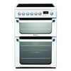 Cookers & Ovens 600mm Double Electric Oven Ceramic Hob Polar White