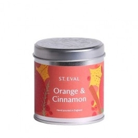 Decorations  - St Eval Orange and Cinnamon Christmas Scented Candle Tin