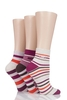 Men's Socks Ladies 3 Pair Elle Striped Cotton Socks