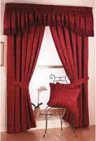 Eton Red Lined Curtains