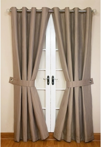 Jazz Linen lined Eyelet Curtains