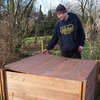 Lid for Big Square Wooden Modular Compost Bin