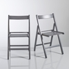 Furniture YANN Solid Beech Folding Chairs (Set of 2)