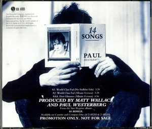 CDs  - Paul Westerberg World Class Fad 1993 USA CD single PRO-CD-6229
