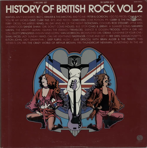 Cassettes & Vinyl  - Various-60s & 70s History Of British Rock, Volume II 1974 USA 2-LP vinyl set SASH-3705-2