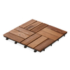 Flooring & Carpeting Interlocking Decking Tiles - Parquet Design