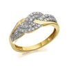 Women's Jewellery 9ct Gold Diamond Triple Weave Band Ring - 1/3ct - D9307-M